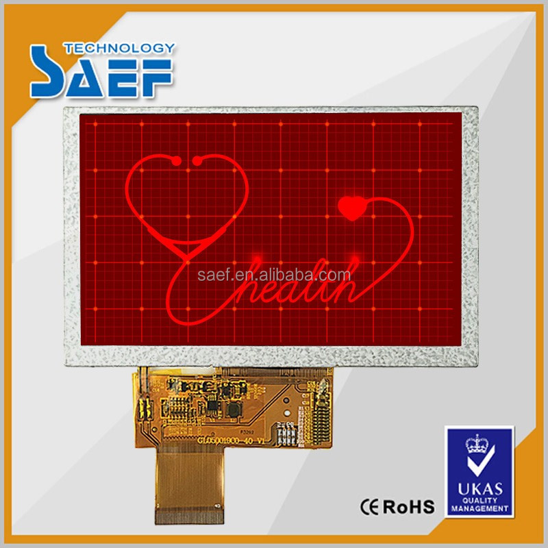 5 inch TFT 12 o'clock viewing angle LCD module with 40 PIN RGB interface