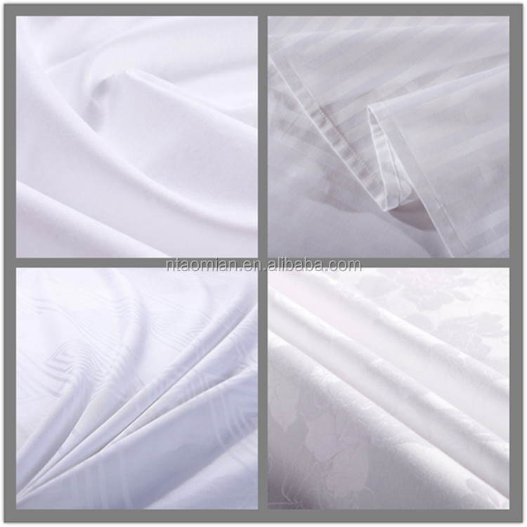 100% cotton fabric plain white pure cotton