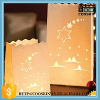Fashionable Luminary lantern paper candle bag paper chismas decoration