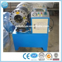 Hydraulic high pressure rubber hose crimping/making machine