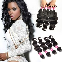 2015 New Product 100% Remi Brazilian Hair Extension 8 Inch Body Wave Brazilian Hair Weft