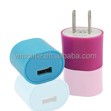 Single USB US America Standard Home Charger 120V AC Charger
