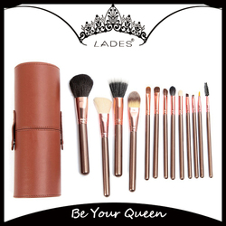 LADES 13pcs Pu Cylinder Brushes Makeup Forever Cosmetics