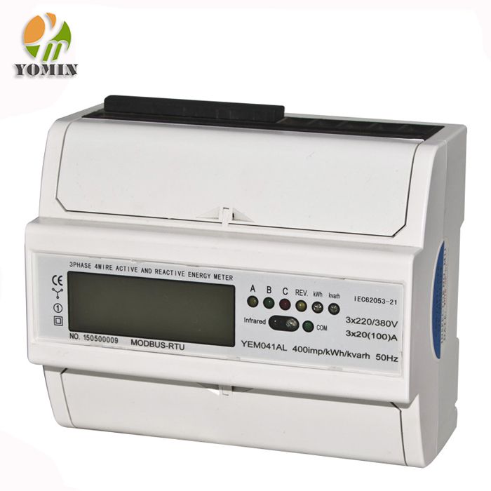 New Rs485 Three Phase Multifunction LCD Power Energy Meter