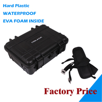 Factory price hard plastic waterproof Black color case (230mm*280mm*83mm) for gopro 1 2 3 3+