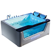 HS-EB003 whirlpool massage bathtub with led lights/ double person whirlpool bathtub