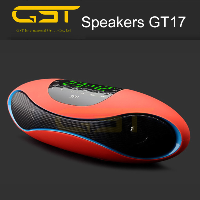 Wholesale Rugby JY17 bluetooth speaker with MIC /NFC /TF card / USB /FM radio / AUX /Digital screen /Time /Clock
