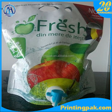 fresh apple juice aseptic bib bag in box container for beverage milk water