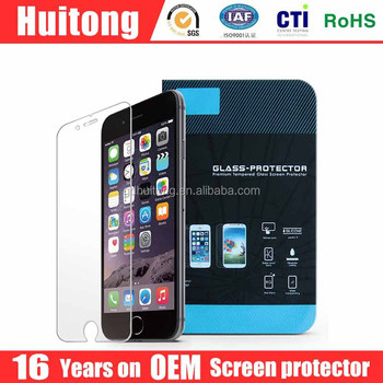 2016 newest molds , full cover 2.5 D tempered 9H screen protector for iphone 6 plus
