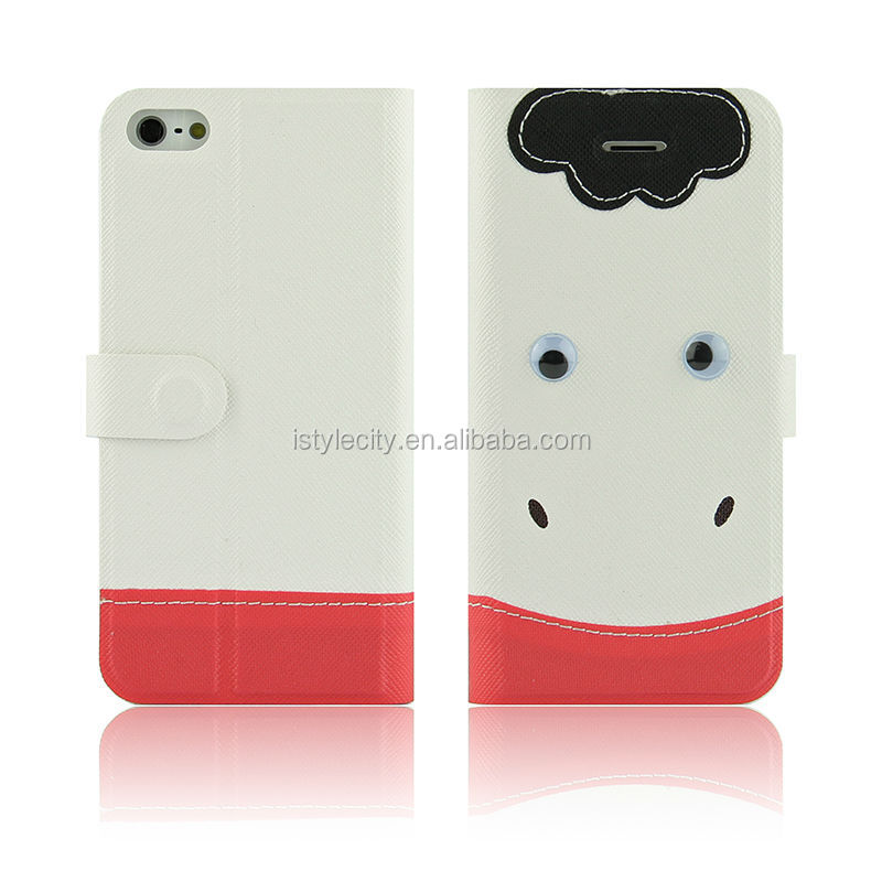 Hot Selling PU Wallet Leather Case for iPhone 4 5