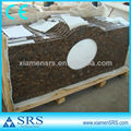 Tan brown granite curved vanity tops