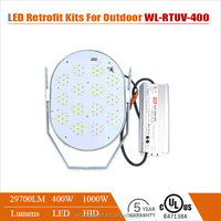 High quality 400 watts energy saving led canopy light retrofit kits wtih UL& cUL certificated