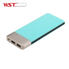 Best Selling Product 2018 WST Leather Feeling Power Bank 9000mah For Promotional Gifts