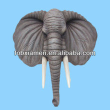 Life-size elephant anitique wall head sculpture