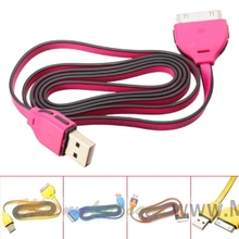 102cm USB Data and Charging Cable for iPhone 4 - Blue / Rosy / Yellow / Orange