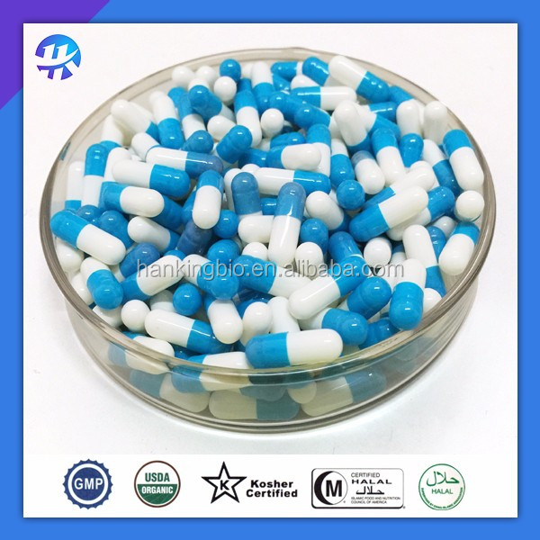 blue and white capsule shells halal certificated empty gelatin capsules