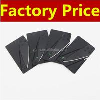 Black Wallet Folding Safety Mini Pocket Knife Credit Card knife Tactical survival Knife