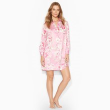 Mujeres pink floral impreso <span class=keywords><strong>pijamas</strong></span> <span class=keywords><strong>de</strong></span> <span class=keywords><strong>seda</strong></span>
