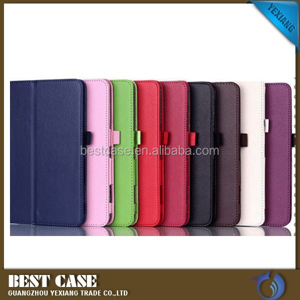 2015 new product flip protective cover case for samsung galaxy tab 4.7.0 t231 leather case