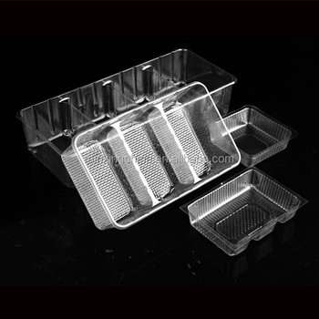 Crystal rPET Thermoforme Fiche Tray BARQUETTE ENDIVES x 6