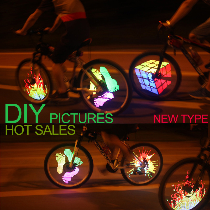 128 LED DIY led wheel light bicycle accessories