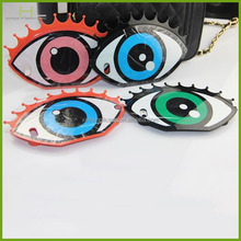 New arrival with chain big eye silicone case for iphone 5 5s,wholesale cell phone case