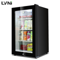 LVNI 2017 95L mini bar with glass door compressor,mini refrigerator for drink or fruit