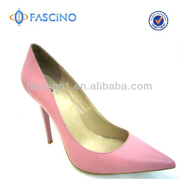 Latest High Heel Leather Shoes Woman Shoes 2014