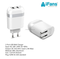 2-Pack Dual Port Quick Charger Plug Cube wall charger for iPhoneX/8/7/6S/6S Plus,Galaxy S8/S7/S6/S5 Edge,HTC,Moto,Kindle