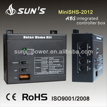 Compact 20w portable solar power system for lighting and mobile solar charger