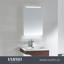 Rustic style bathroom mirror with LED light bathroom vanity mirror cabinet
