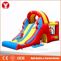 Inflatable slide, inflatable floating water liner slide