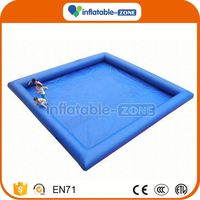 New arrival round inflatable double tube water pool for sale with cheap price inflatable water pool with cover