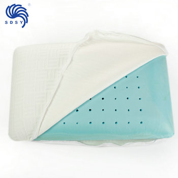 Cooling gel infused memory foam head pillow