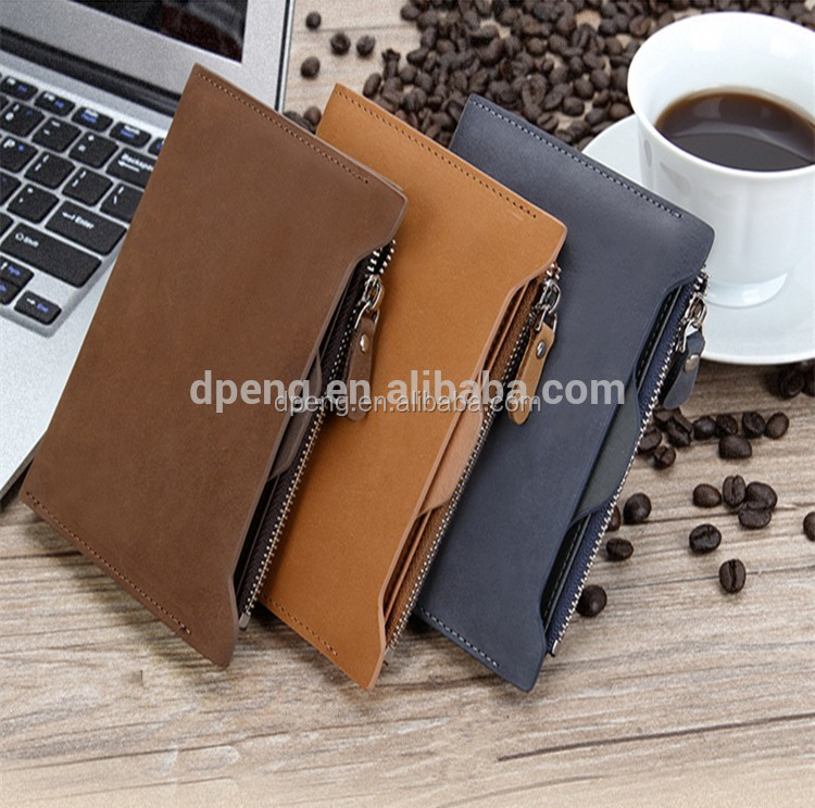 2016 Custom cowhide genuine leather best brand man vintage leather wallet