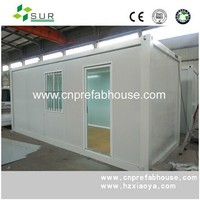 single layer living container house, prefab flat pack housing
