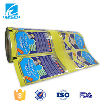 FDA Certified!! safety food grade gravure printed plastic laminated film with lldpe material