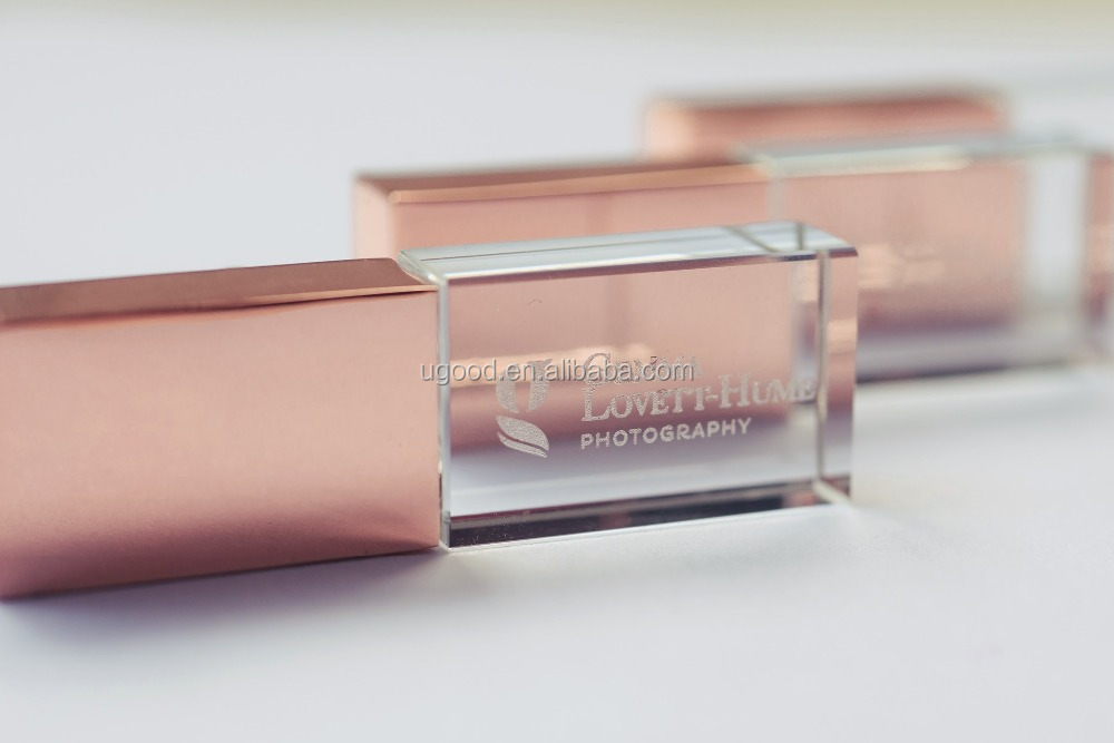 Rose gold USB flash drive,Rose gold color gifts for crystal usb memory 8GB