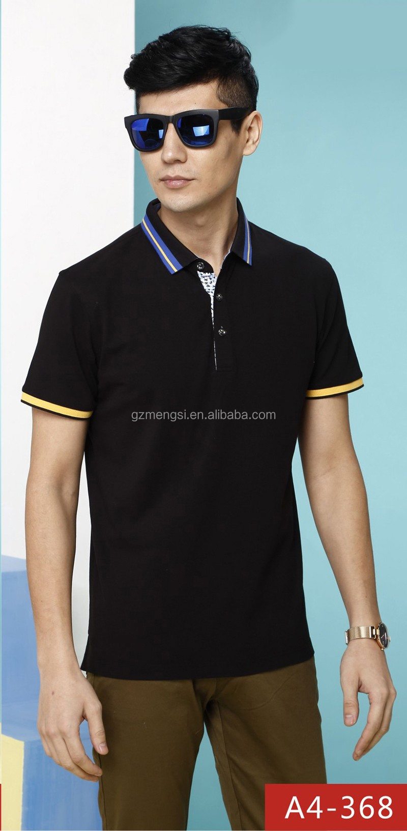 Wholesale polo T shirt short/long sleeve customized logo printed