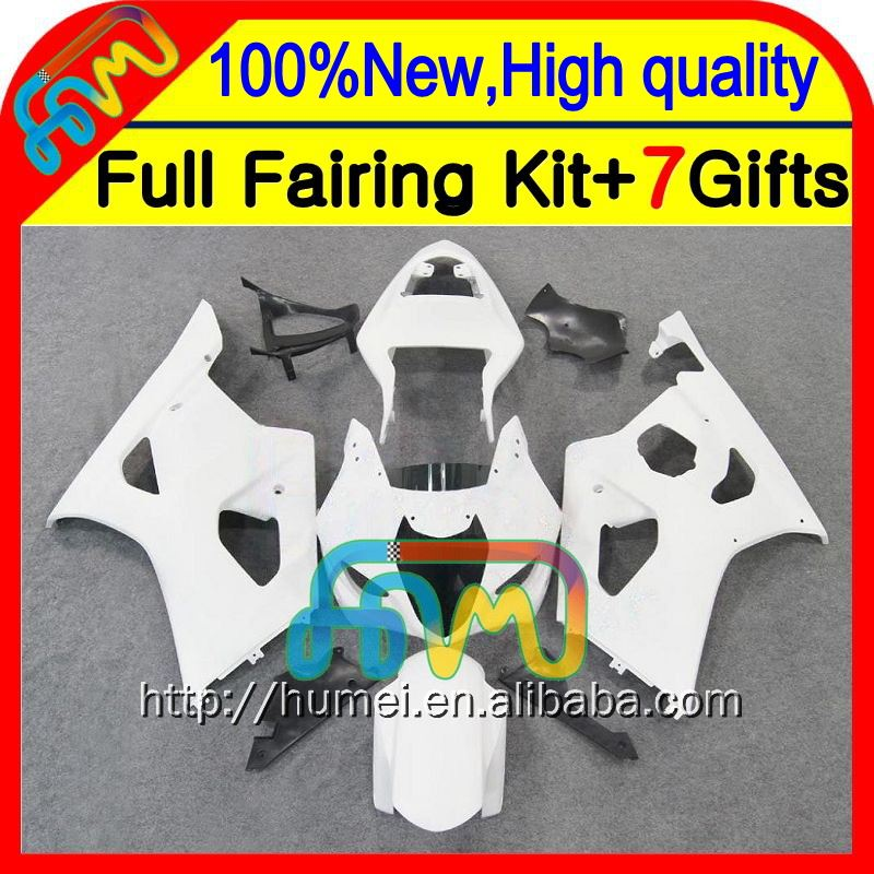 Body K3 Gloss white For SUZUKI GSX R1000 03 04 GSX-R1000 03-04 8#7113 GSXR 1000 2003 2004 GSXR-1000 GSXR1000 K3 White Fairing
