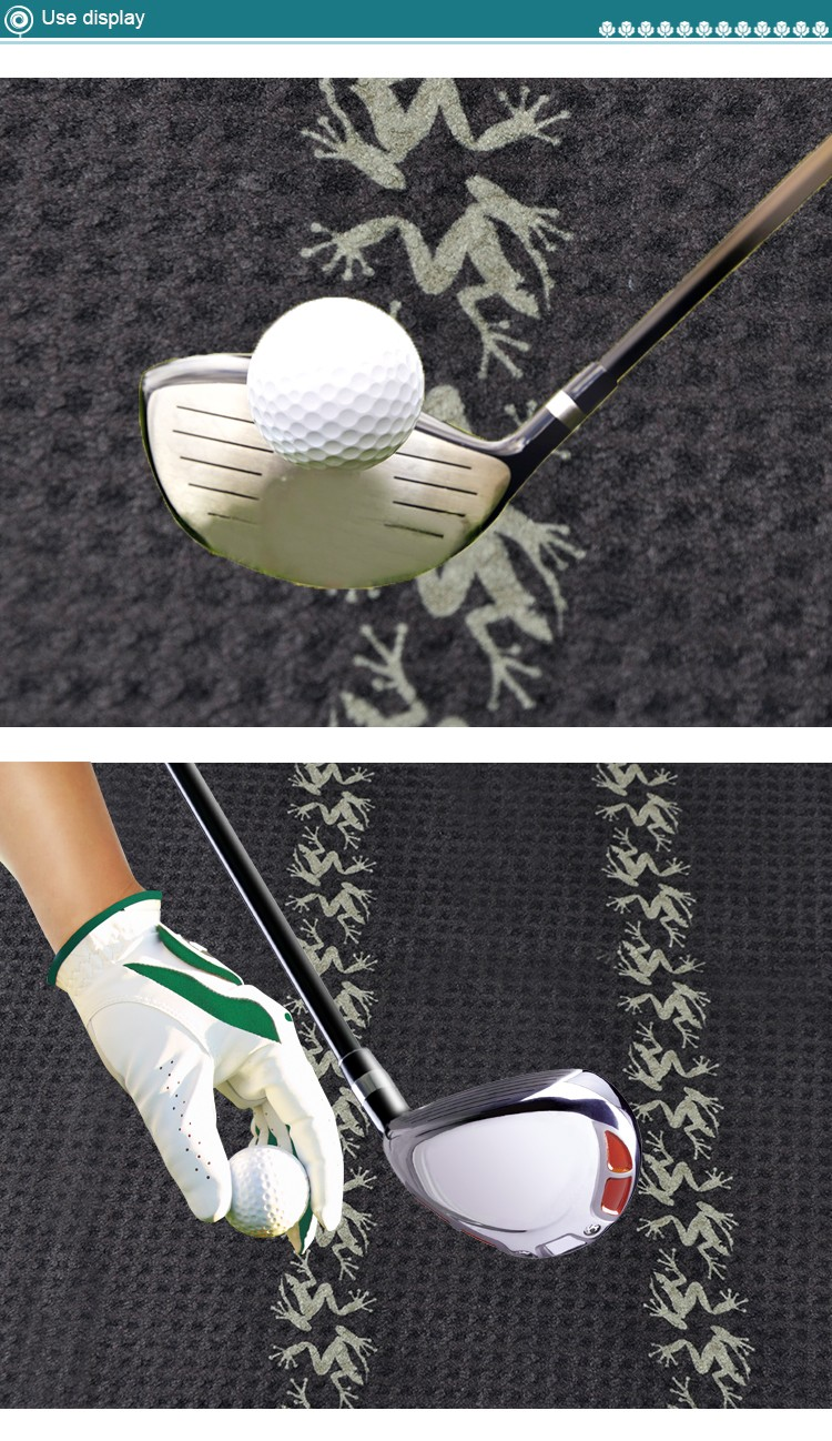 China supplier wholesale screen printed microfiber golf towel