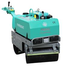 New condition, 600-700KG turnable gasoline hydraulic walk behind vibratory road roller compactor, good price for sale