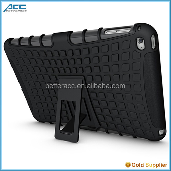 chinese manufacturer dual layers pc+tpu armor case for apple ipad mini 4