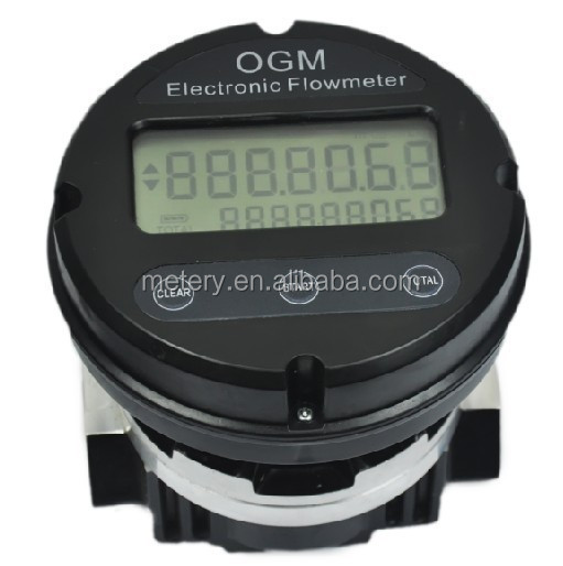 OGM digital battery diesel fuel flow meter with reset zero and totalizing function
