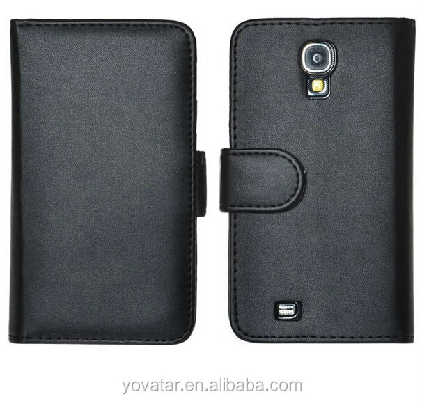 Hot!! Stand flip wallet leather case for Samsung Galaxy S4 I95000, wallet credit card cover pouch case for Samsung S4