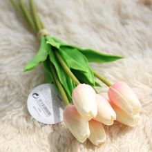 The newest cheapest new design home tulips plastic flowers wholesale