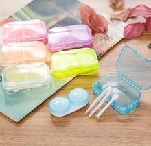 Wholesale Small Order Stock Fancy Candy New Style Fresh Makeup Contact Lenses Case