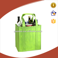 4 bottles non woven wine bag, customize non-woven wine bag for packing