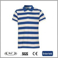 best selling austrilia 100 cotton white blue stripe cotton polo t shirts for men