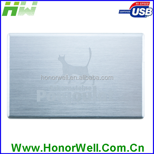 Aluminum Drawing Metal Visiting Card Business Card Credit Card Usb Flash Disk Thumb Drive Usb Disk Imprinting Any Message